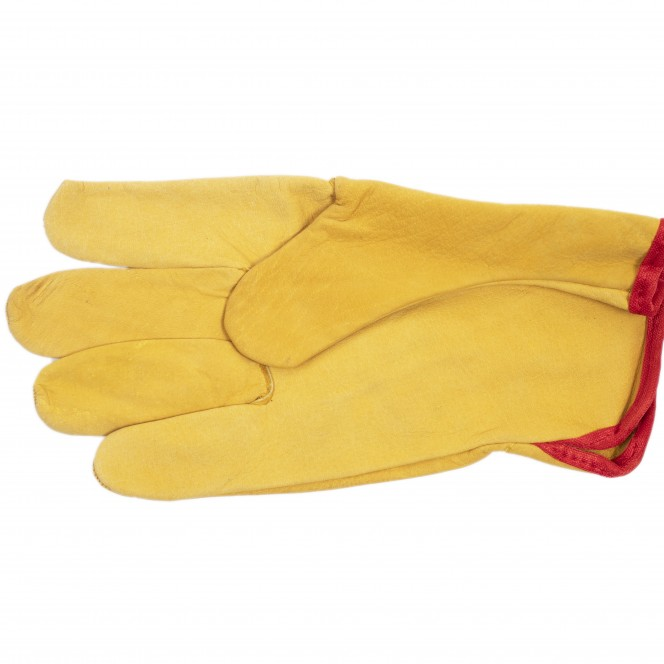 LEATHER YELLOW GLOVES - PHOENIX