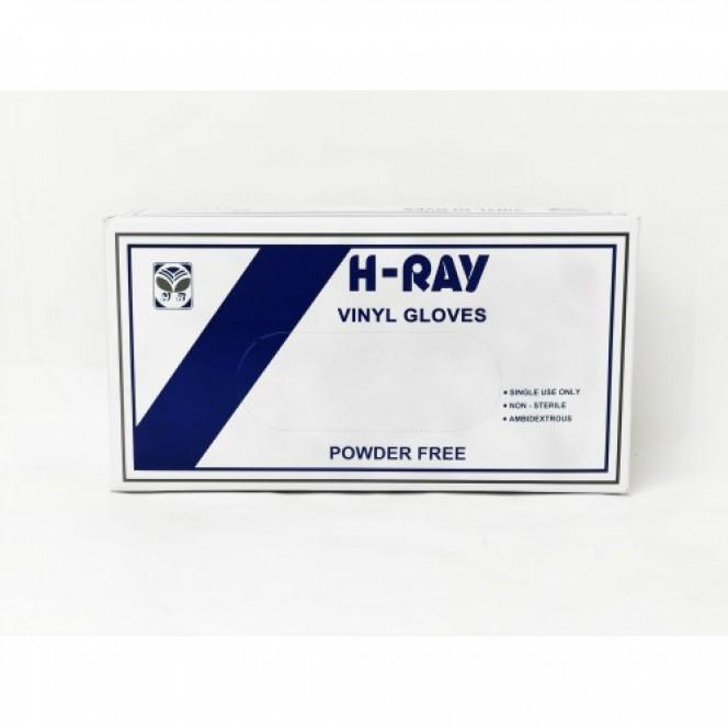 DISPOSABLE GLOVES, H-RAY VINYL, POWDERED FREE (50 PAIRS/BOX)