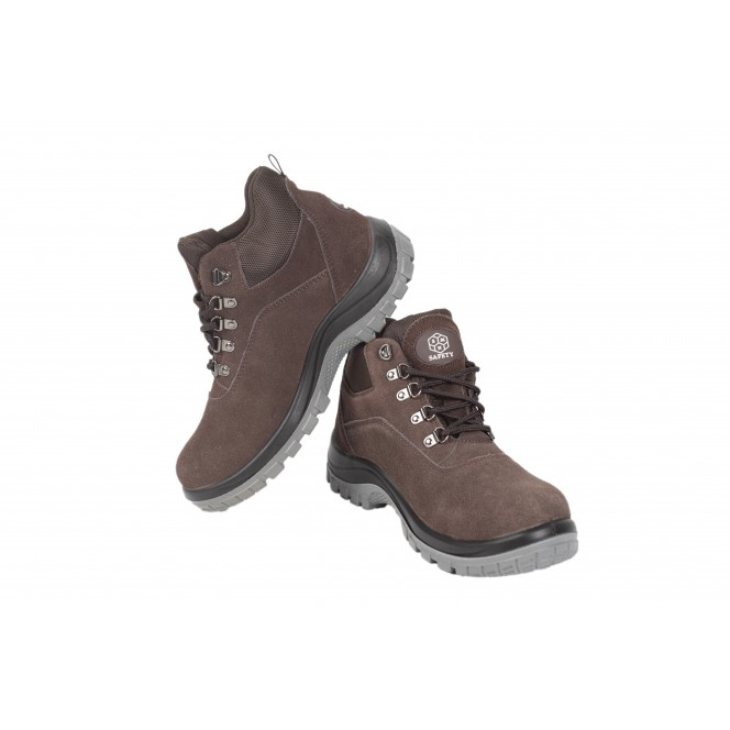 SAFETY SHOES SMNXZ-119 (Brown High-Cut)