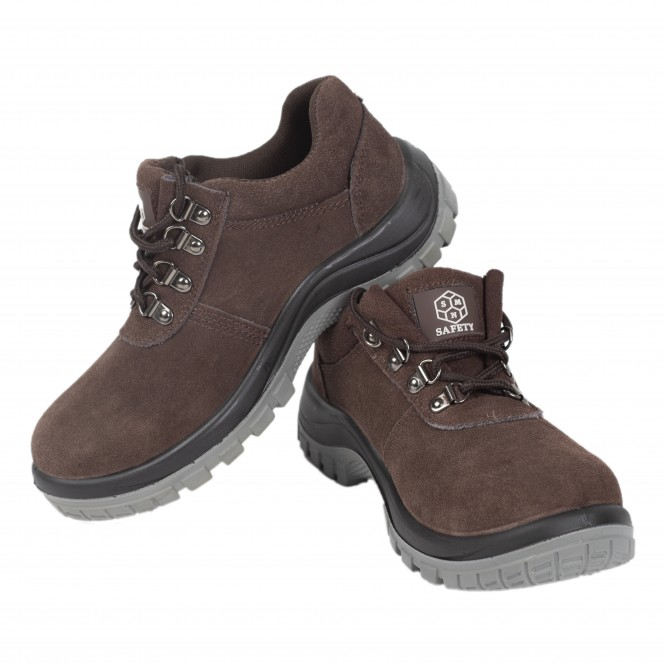 SAFETY SHOES SMNXZ-119 (Brown Low-Cut)