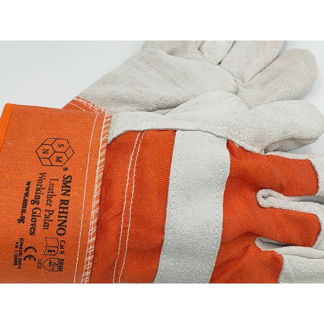 LEATHER PALM WORKING GLOVES - SMN RHINO