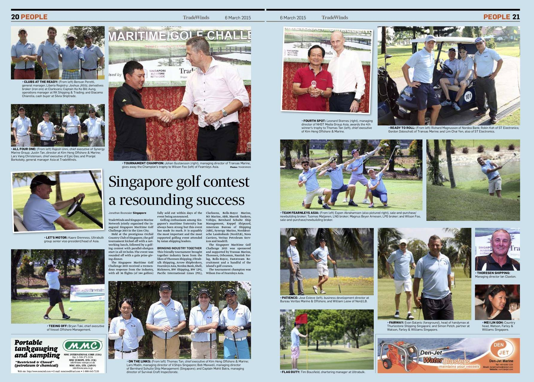 Singapore Maritime Golf - A resounding success