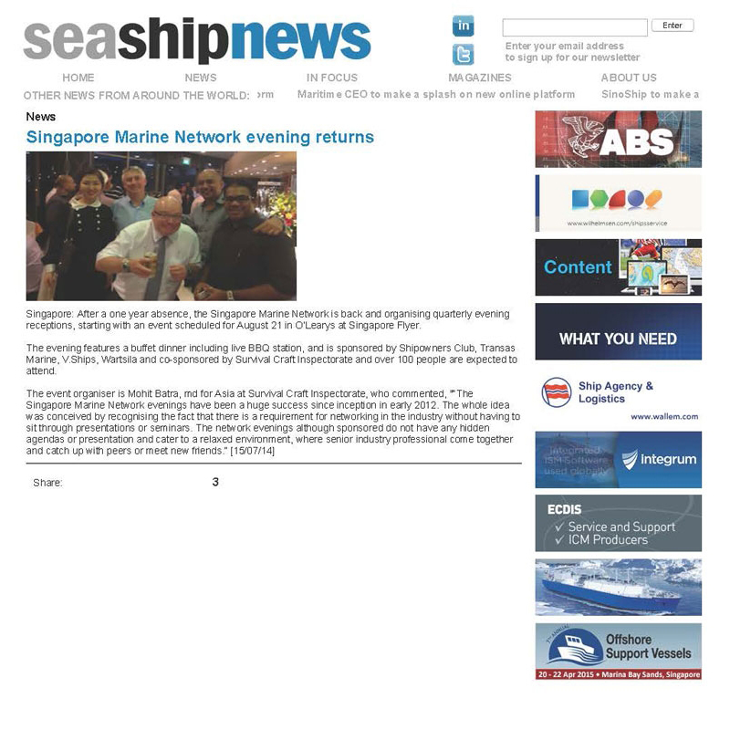 Singapore Maritime Networking Events - A successful affair